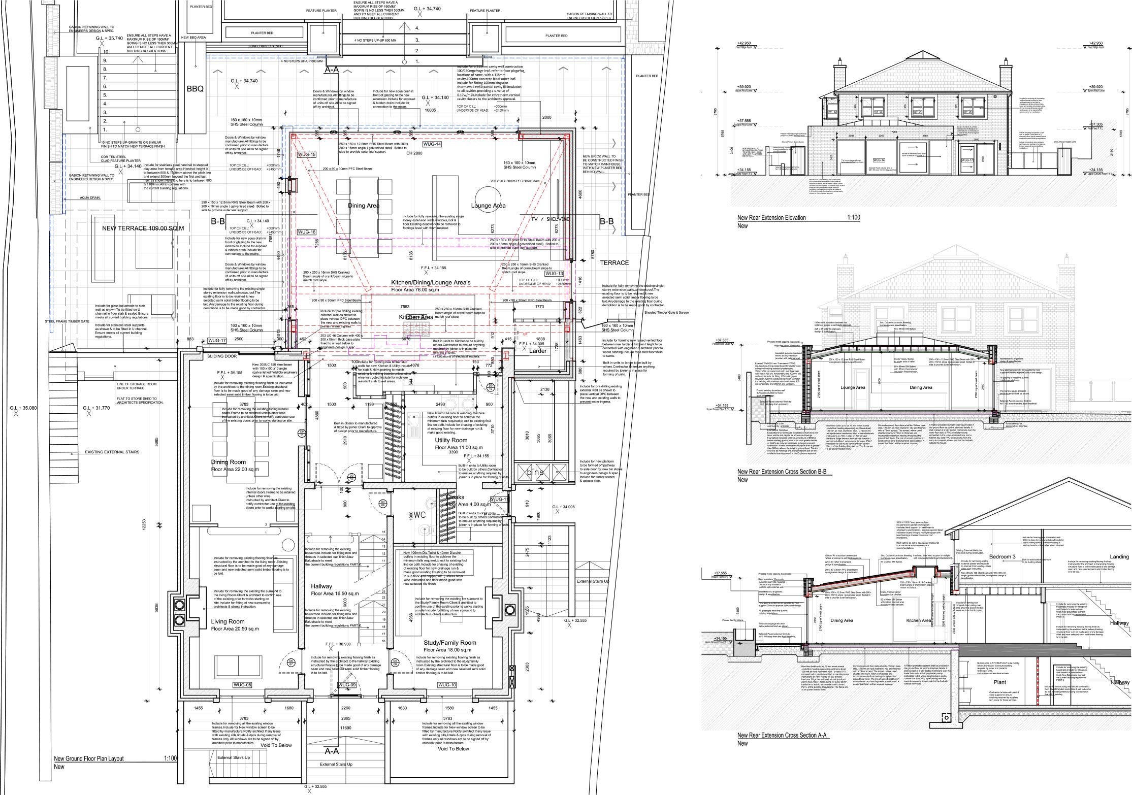 2d construction drawings examples complete archi services