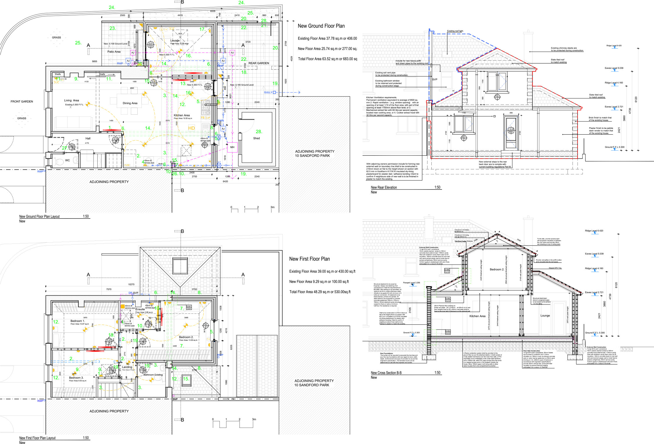 2d construction drawings examples complete archi services for Construction drawing